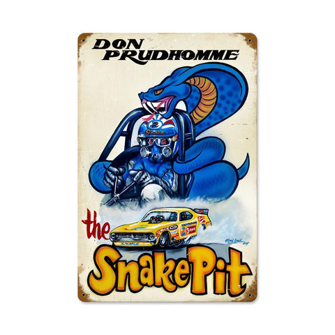 Snake Pit Metal Sign Wall Decor 12 x 18