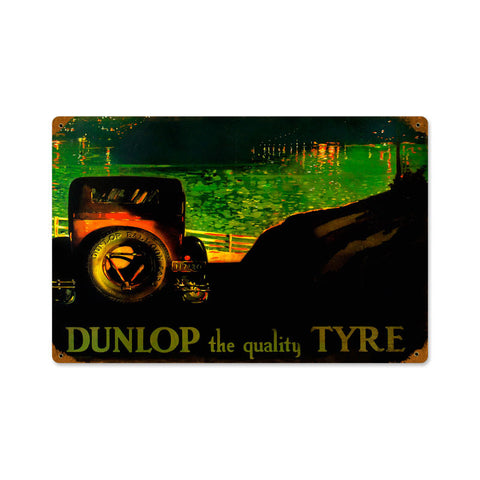 Tyre Metal Sign Wall Decor 18 x 12