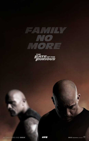 The Fate of the Furious Movie Posters - 27 x 40 Year: 2017