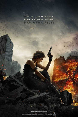 Resident Evil: The Final Chapter 27 x 40 Movie Poster - Style F