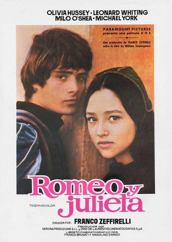 Romeo and Juliet 11 x 17 Movie Poster - Spanish Style A
