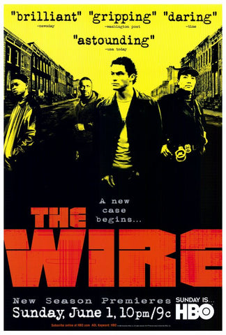 The Wire 27 x 40 TV Poster - Style A