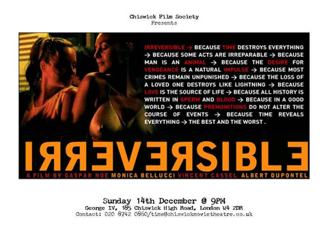 Irreversible 11 x 14 Movie Poster - Style C