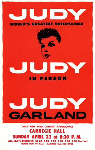 Judy In Person (Broadway) 11 x 17 Poster - Style A