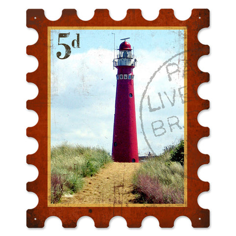 Light House Metal Sign Wall Decor 15 x 18