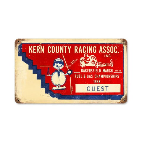 Kern County Ticket Metal Sign Wall Decor 14 x 8