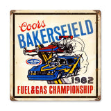 Bakersfield Coors Metal Sign Wall Decor 12 x 12
