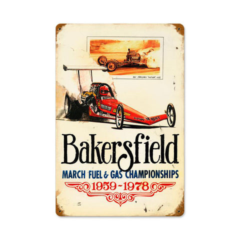 Bakersfield 59 to 78 Metal Sign Wall Decor 18 x 12