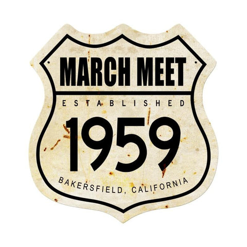 March Meet 1959 Metal Sign Wall Decor 15 x 15