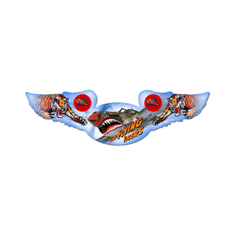Flying Tigers Metal Sign Wall Decor 35 x 10