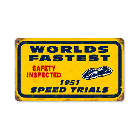 Bonneville Speed Trials Metal Sign Wall Decor 14 x 8