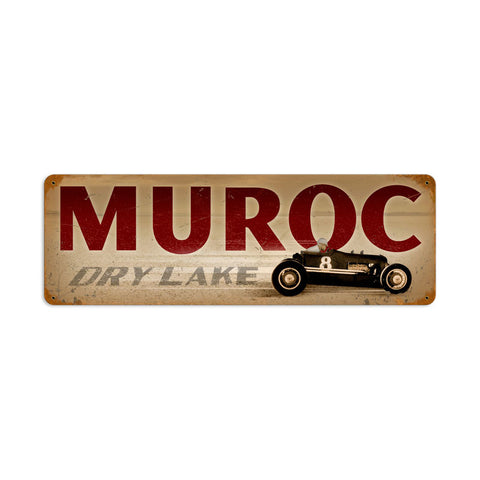 Muroc Metal Sign Wall Decor 24 x 8