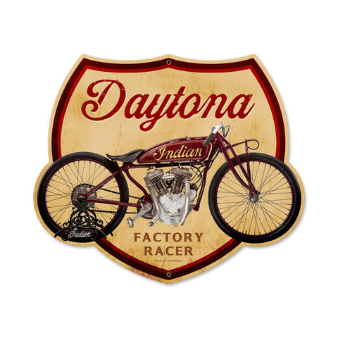 Daytona Metal Sign Wall Decor 17 x 14
