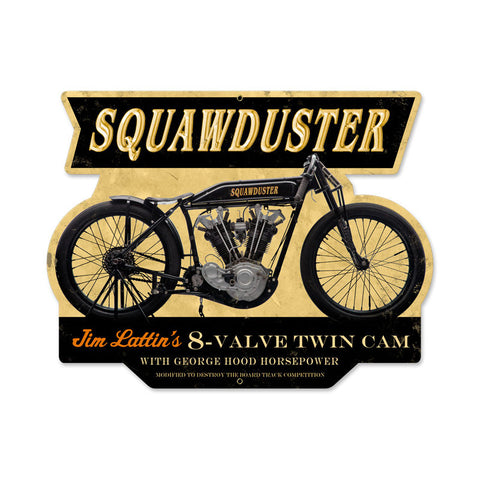 Squawduster Metal Sign Wall Decor 17 x 13