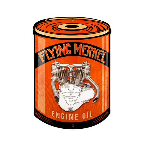 Flying Merkel Metal Sign Wall Decor 14 x 20