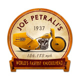Joe Petrali Metal Sign Wall Decor 15 x 16