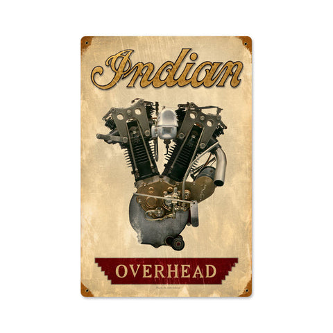 Indian Engine Metal Sign Wall Decor 12 x 18