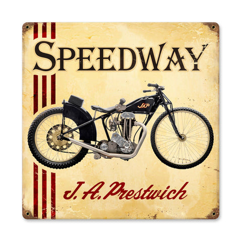JAP Speedway Metal Sign Wall Decor 12 x 12