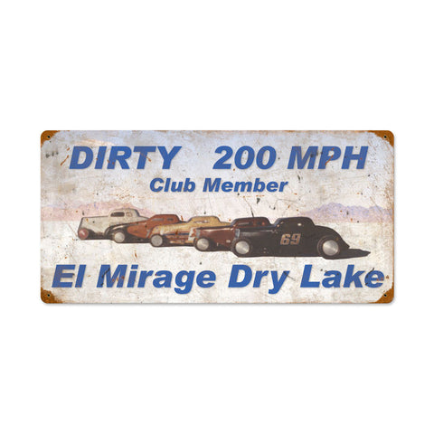 Dirty 200MPH Metal Sign Wall Decor 24 x 12