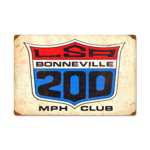 LSA 200MPH Club Metal Sign Wall Decor 24 x 16
