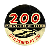 200 Mph Club XXL Metal Sign Wall Decor 42 x 42
