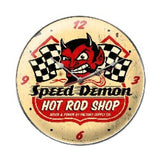 Speed Demon HRShop Clock Metal Sign Wall Decor 14 x 14