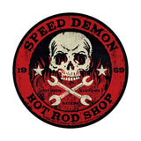 Speed Demon red skull 28  Metal Sign Wall Decor 28 x 28