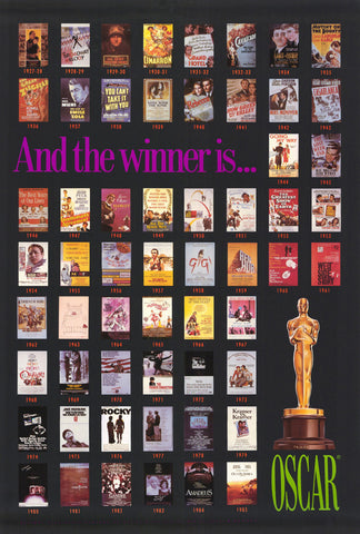 Oscar Winners 1927-1985 27 x 40 Movie Poster - Style A