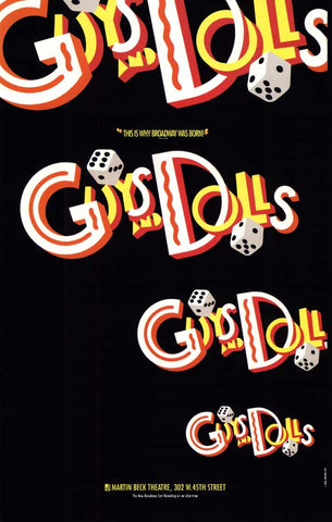 Guys and Dolls (Broadway) 27 x 40 Poster - Style A