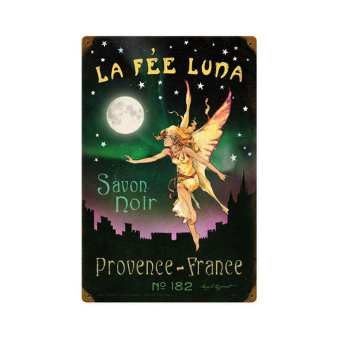La Fee Luna Metal Sign Wall Decor 12 x 18