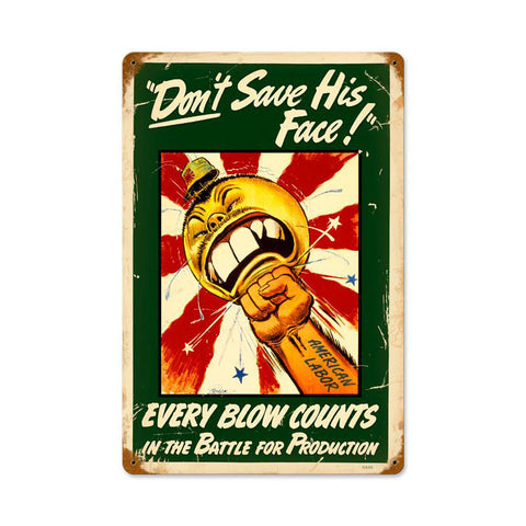 Every Blow Counts Metal Sign Wall Decor 18 x 12