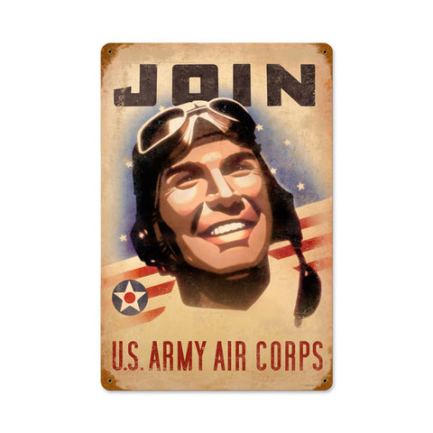 Join Army Metal Sign Wall Decor 12 x 18