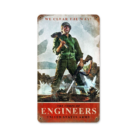 Army Corps Engineers Metal Sign Wall Decor 8 x 14