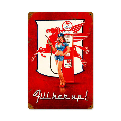 Fill Her Up Metal Sign Wall Decor 12 x 18