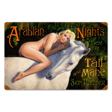 Arabian Nights Metal Sign Wall Decor 18 x 12