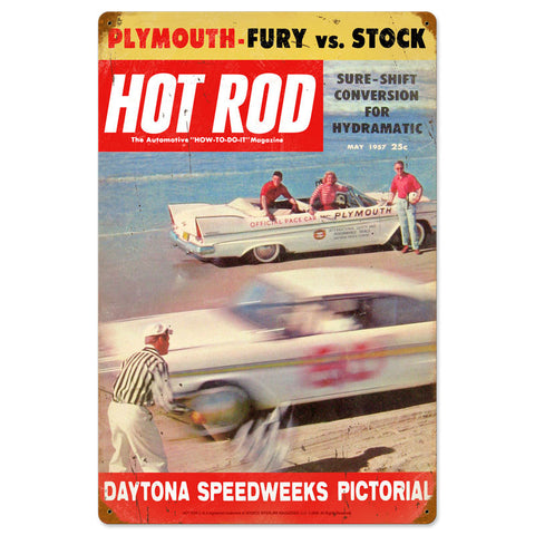 Daytona Metal Sign Wall Decor 16 x 24