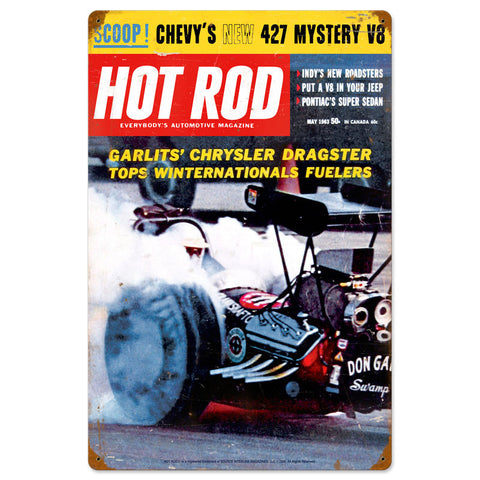 Garlits May 1963 Metal Sign Wall Decor 16 x 24