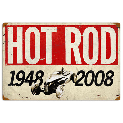 60th Anniversary Metal Sign Wall Decor 16 x 24