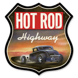 Hot Rod Highway Metal Sign Wall Decor 28 x 28