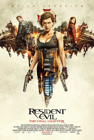 Resident Evil: The Final Chapter 11 x 17 Movie Poster - Style E