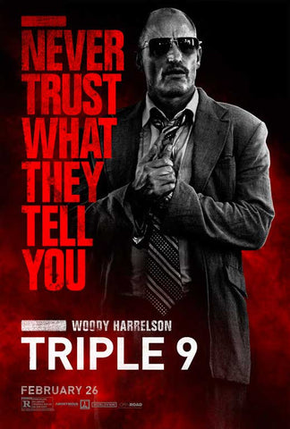 Triple 9 27 x 40 Movie Poster - Style H