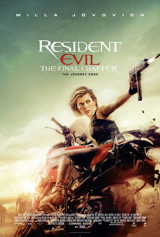 Resident Evil: The Final Chapter 27 x 40 Movie Poster - Style C