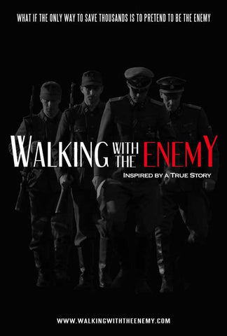 Walking with the Enemy 27 x 40 Movie Poster - Style A - in Deluxe Wood Frame
