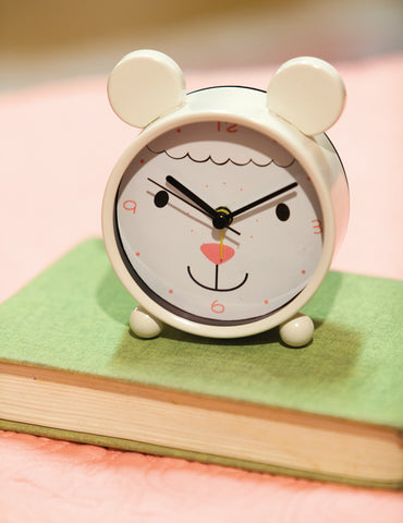 Lamb Small Animal Table Clock