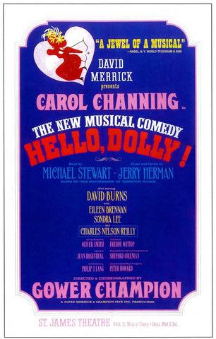 Hello Dolly (Broadway) 14 x 22 Poster - Style A