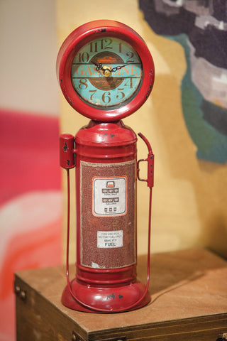 Retro Gas Pump Table Clock