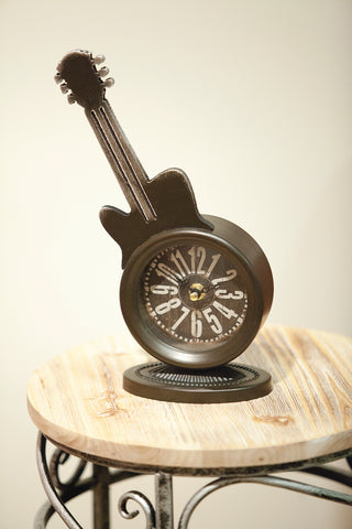 Guitar Table Clock