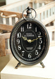 Oval Table Clock Black