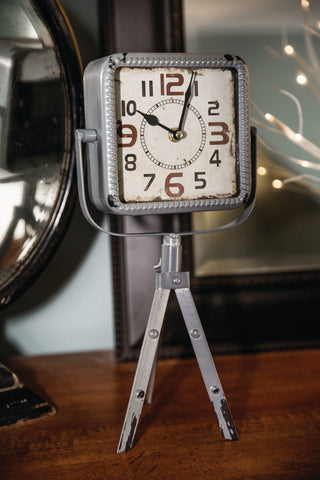 Easel Table Clock Gray