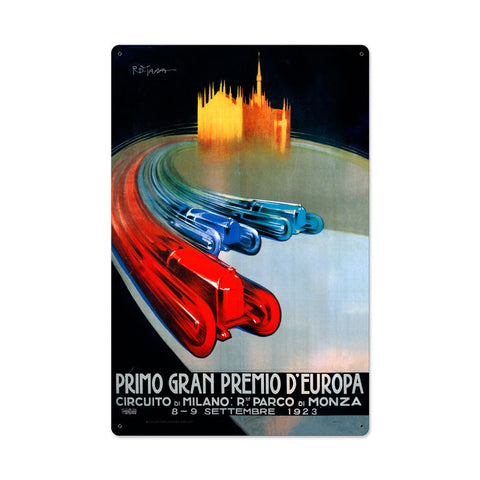 Europe Grand Prix Metal Sign Wall Decor 16 x 24
